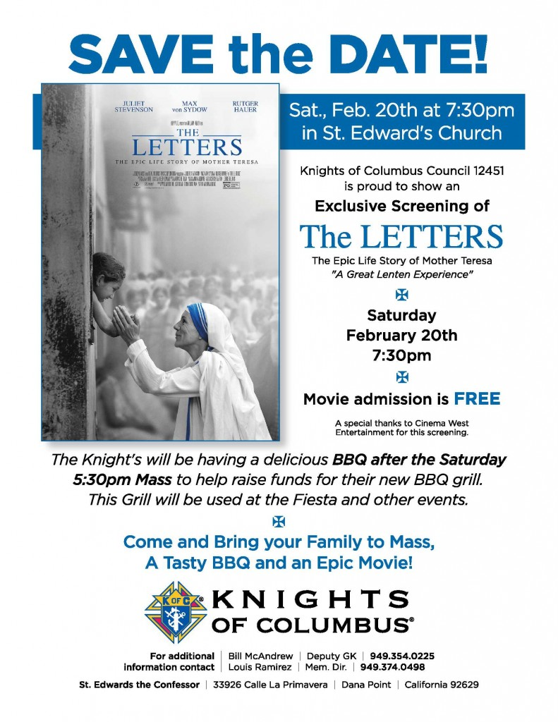 KofC The Letters Feb 20 2016